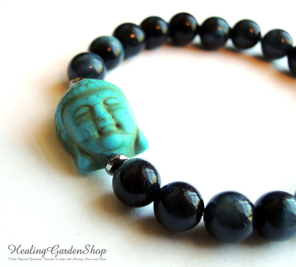 Buddha and Blue Tiger Eye