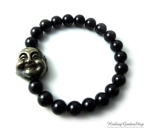 Pyrite Buddha and Black Tourmaline