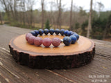 Lepidolite and Lapis Lazuli for Stress and Depression Relief by RockMyZen.com