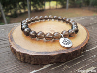 Lotus and Smokey Quartz Bracelet by Rock My Zen