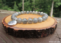 Lotus and Labradorite Bracelet for Negative Energy Protection by Rock My Zen