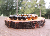 Black Obsidian and Tiger Eye for Negative Energy Protection by Rock My Zen