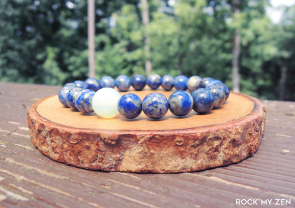 Opalite and Lapis Lazuli for Stress and Anxiety Relief by Rock My Zen