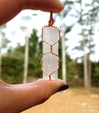 Raw Selenite Pendant by RockMyZen.com