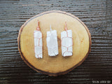 Wire Wrapped Raw Selenite Necklace