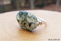 Prehnite ring by RockMyZen.com