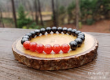 Carnelian and Shungite bracelet by RockMyZen.com