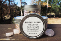 Rose Quartz Candle and bracelet bundle set by Rock My Zen