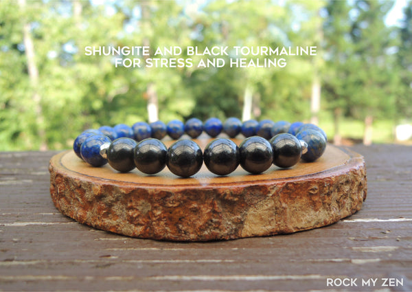 Shungite and Lapis Lazuli by Rock My Zen