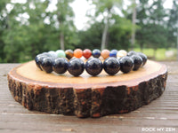 Goldstone Solar System Gemstone Planet Bracelet by Rock My Zen