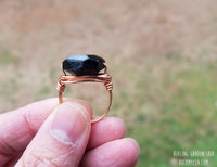 Wirewrapped Black Tourmaline Ring by RockMyZen.com