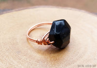 Wirewrapped Black Tourmaline Statement Ring by RockMyZen.com