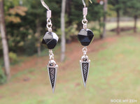Modern Black Tourmaline Boho Earrings by Rock My Zen