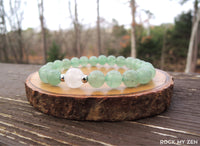 White Jade and Green Aventurine Bracelet by Rock My Zen
