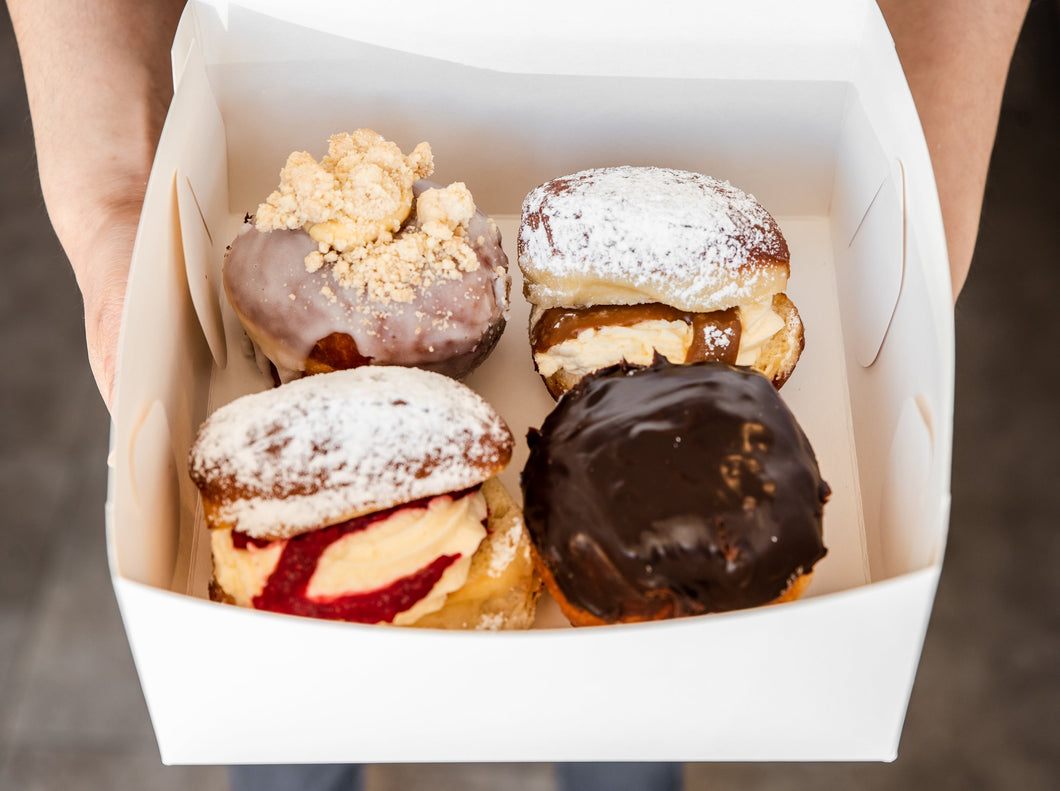 4 Pack Filled Donuts
