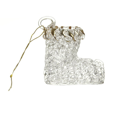 Glass Hanging Christmas Stocking