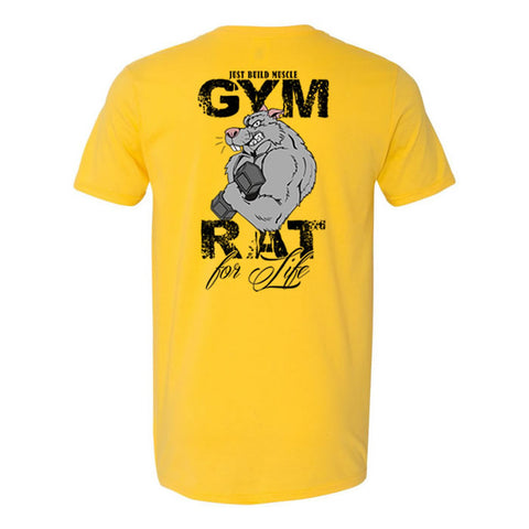 "T Shirt ""Gym Rat"" yellow NEU"
