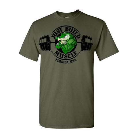 "T Shirt ""Gator"" military green"