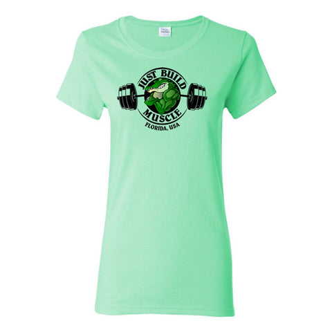"T Shirt ""GATOR"" Woman mint green"