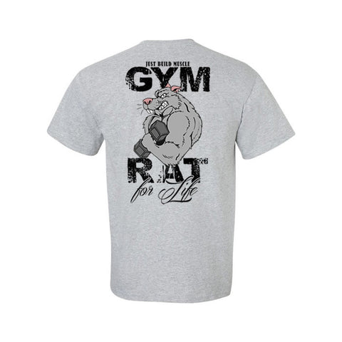 "T Shirt ""Gym Rat"" sports grey NEU"
