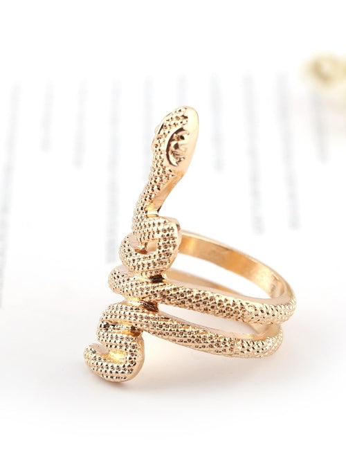Snake Shaped Spiral Ring