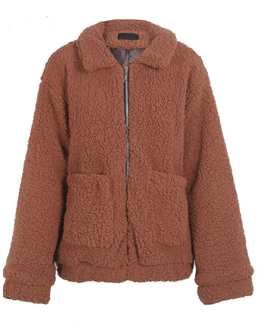 Faux Lambswool Oversize Hairy Jacket