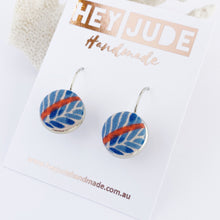Load image into Gallery viewer, Silver Bezel Drop Earrings