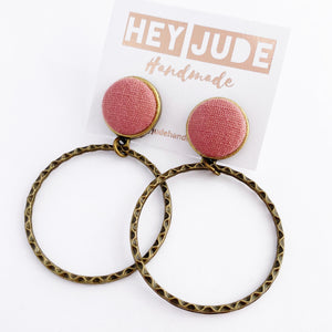 Bronze Hoop Earrings