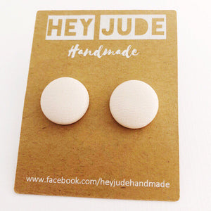 Single Stud Earrings - Leatherettes