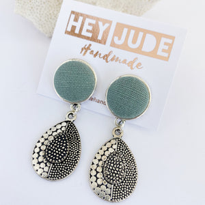 Antique Silver Drop Earrings