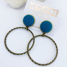 Load image into Gallery viewer, Bronze Hoop Earrings