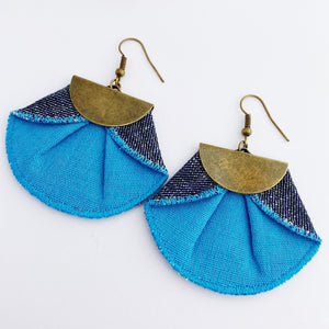 Pleated Fabric Dangles