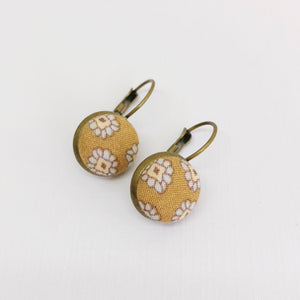 Bronze Bezel Drop Earrings