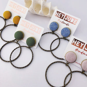 Hoop Earrings, group image of various colours