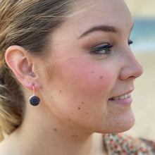 Load image into Gallery viewer, Rose Gold Bezel Earrings