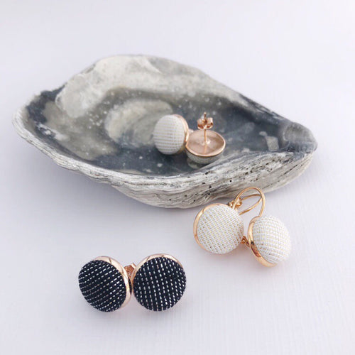 Rose Gold Bezel Earrings