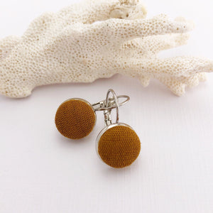 Silver Bezel Drop Earrings