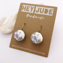 Load image into Gallery viewer, Bronze Bezel Drop Earrings