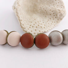Load image into Gallery viewer, Leatherette Bronze Bezel Studs