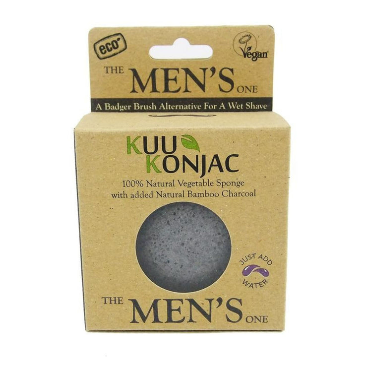 KUU Konjac Mens Sponge for Pre & Post Shave-Kuu Konjac-Someday Green Co