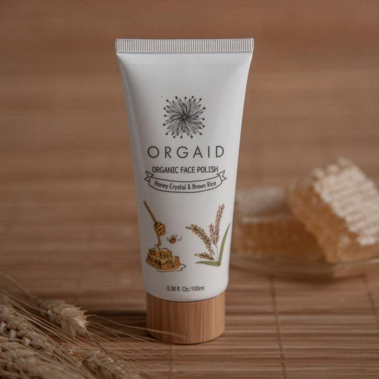 ORGAID - ORGANIC FACE POLISH WITH HONEY CRYSTAL & BROWN RICE-ORGAID-Someday Green Co