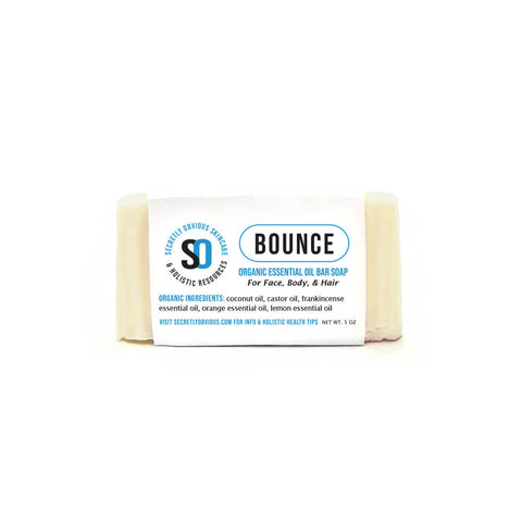BOUNCE Bar Soap - Secretly Obvious Organic Holistic Natural Skincare Soap Serum Shea Butter Sunscreens for cystic acne scars