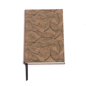 Tropical Leaf Faux Leather Journal - Salix Intimates