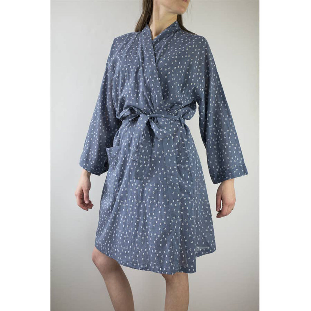 Block Printed Cotton Robe - Salix Intimates