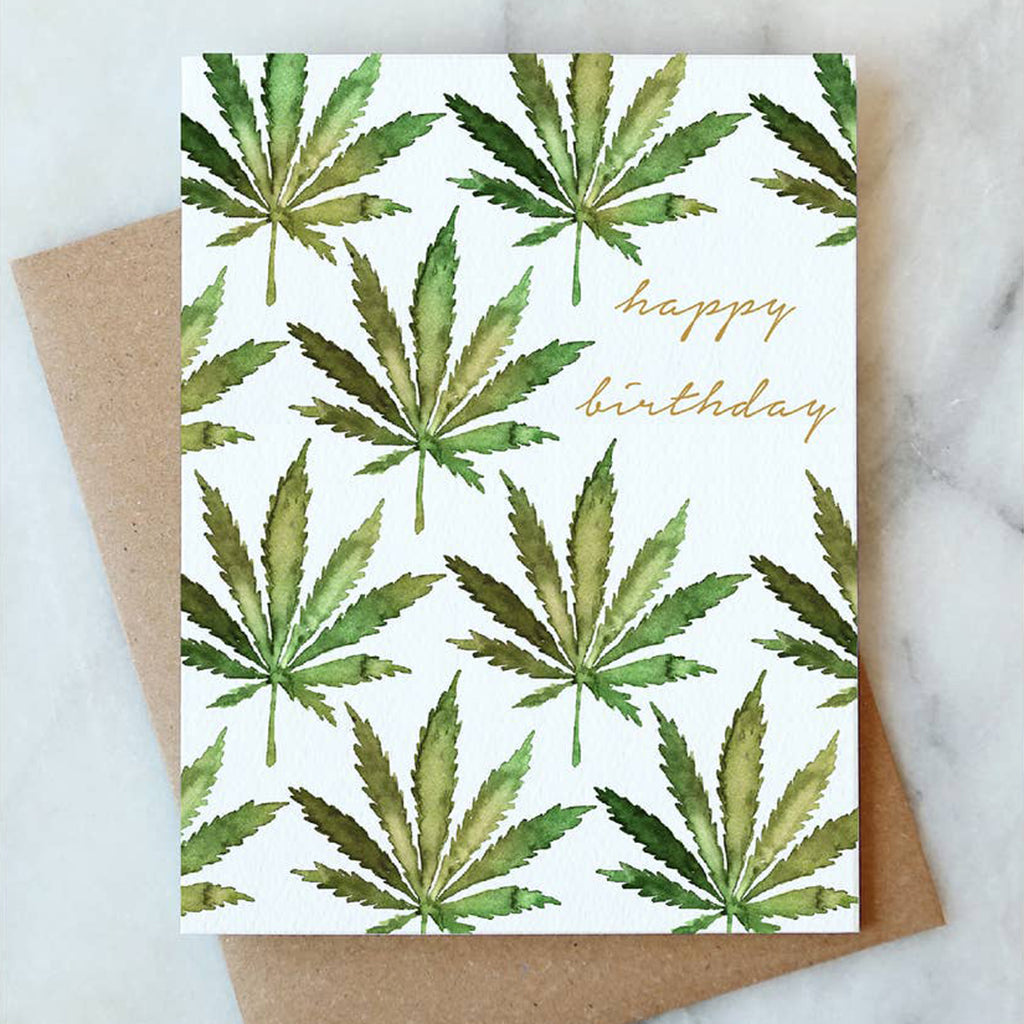 Cannabis Birthday Card - Salix Intimates