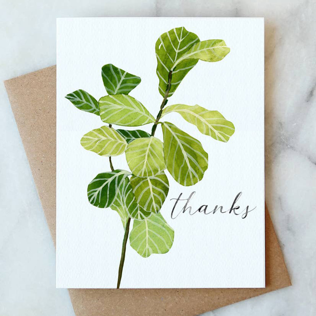 Fiddle Leaf Thanks Card - Salix Intimates