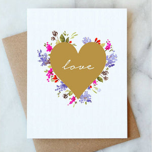 Love Floral Card - Salix Intimates