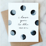 To The Moon Love Card - Salix Intimates