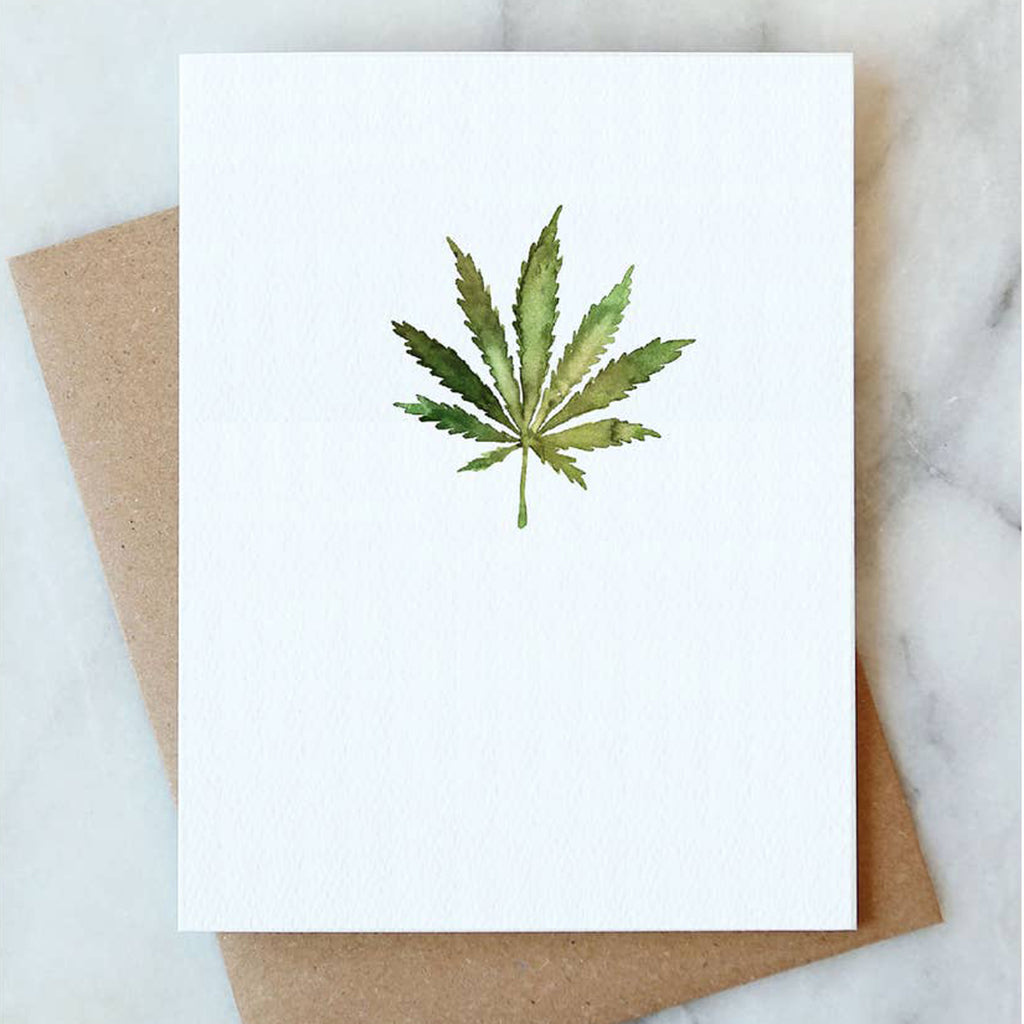 Cannabis Leaf Card - Salix Intimates