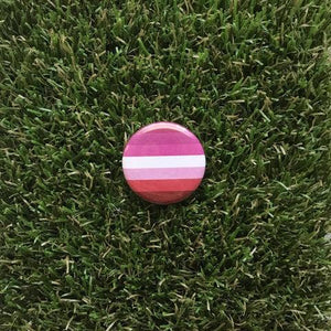 Lesbian Pride Flag Pin-back Button - Salix Intimates